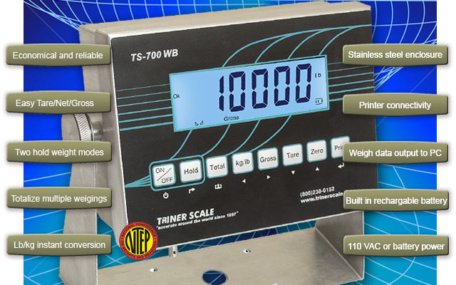 Digital Indicators With Remote Read : Ntep certified floor scales stainless steel